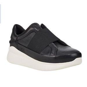 UGG Libu Black Leather Sneaker